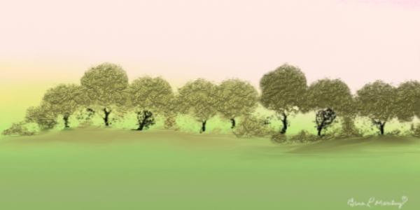 Treeline Painting