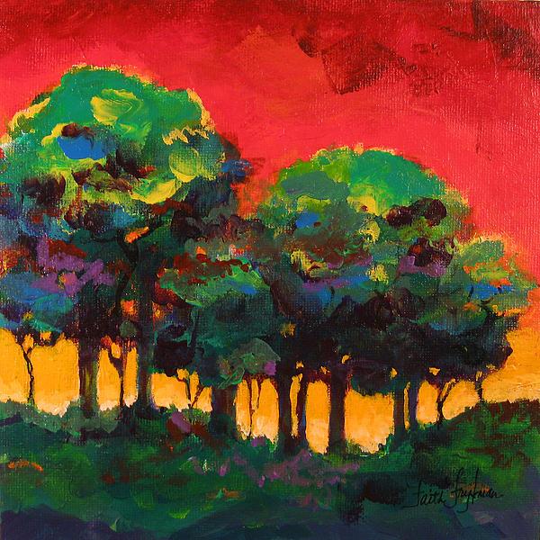 Trees 2 Print by Faith Frykman