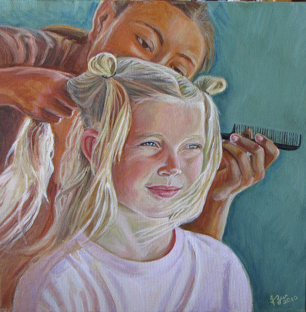 Trensitas   Little Braids Painting