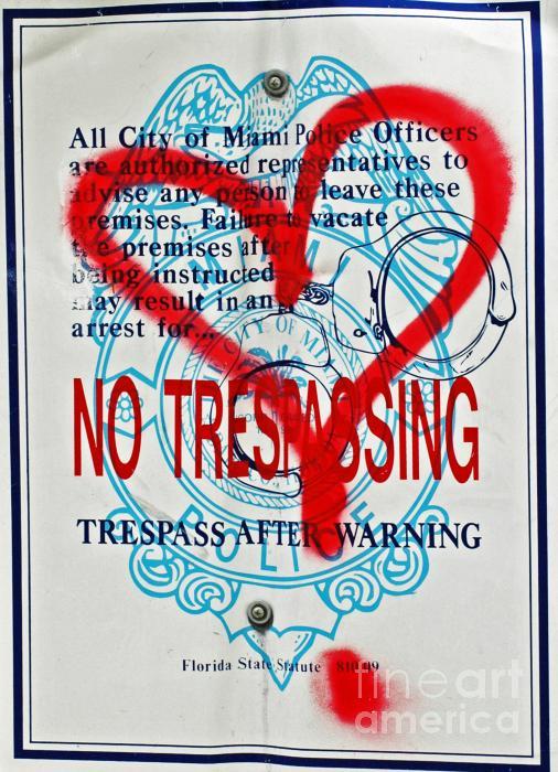 Trespassing Print by Anahi DeCanio