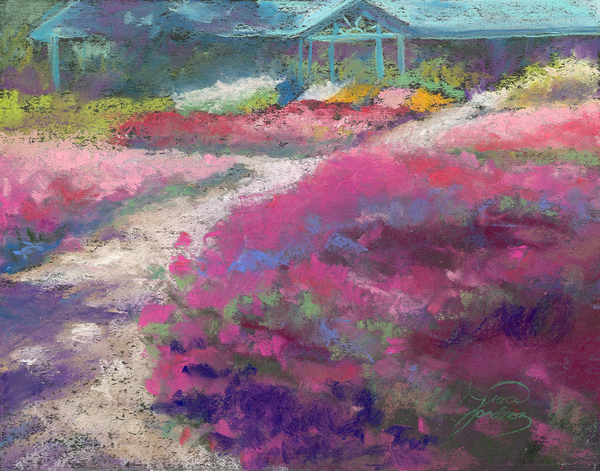 Trial Gardens In Fort Collins Print by Grace Goodson