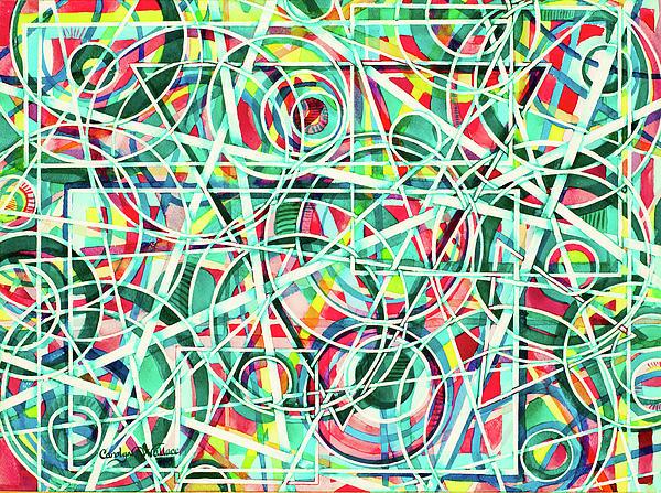 Triangle Interlacing Print by Carolyn Coffey Wallace
