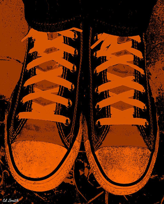 Trick Or Treat Feet Print by Ed Smith