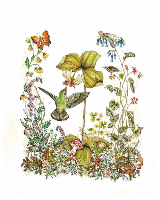 Trillium Print by Donna Genovese