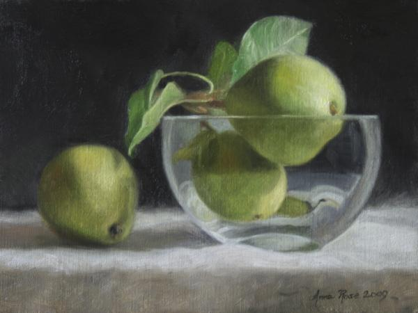 Trio Of Pears Print by Anna Bain