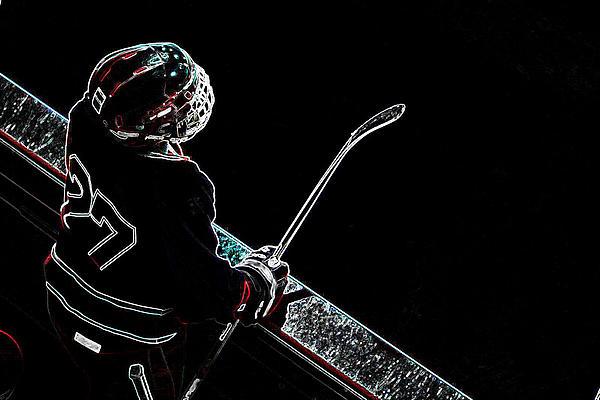 Tron Hockey - 1 Print by Tya Kottler