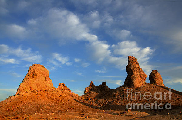 Trona Pinnacles Golden Hour Print by Bob Christopher
