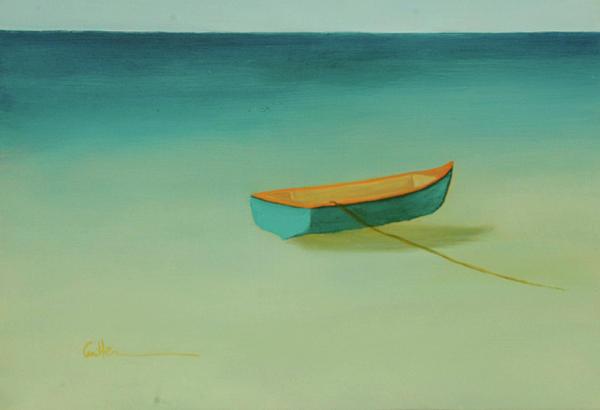 Tropical Calm Print by Diane Cutter