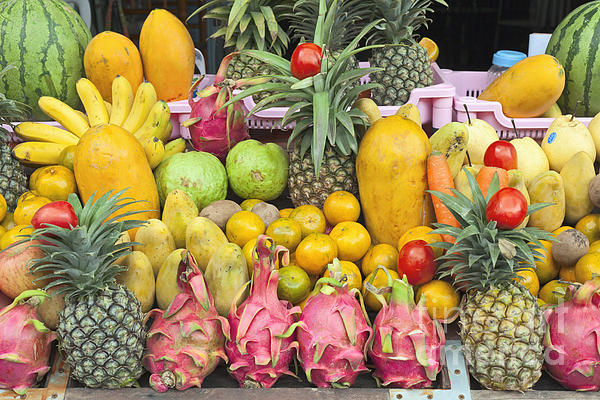 Tropical Fruit Display Print by Roberto Morgenthaler