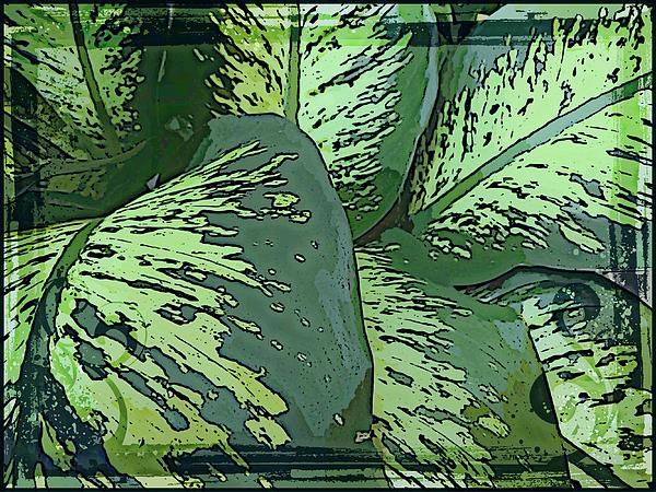 Tropical Green Print by Mindy Newman