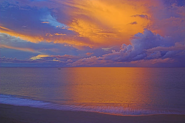 Tropical Sunset-2- St Lucia Print by Chester Williams