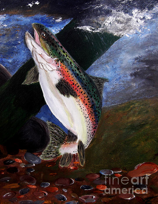 Trout Bedding Print by Angela Pari  Dominic Chumroo