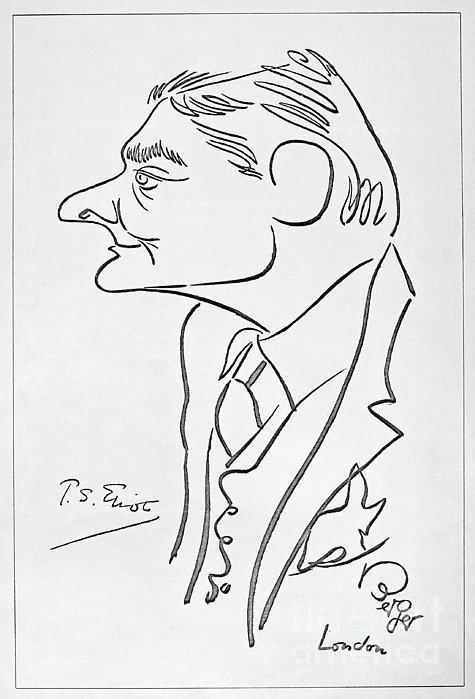 T.s. Eliot (1888-1965) Print by Granger