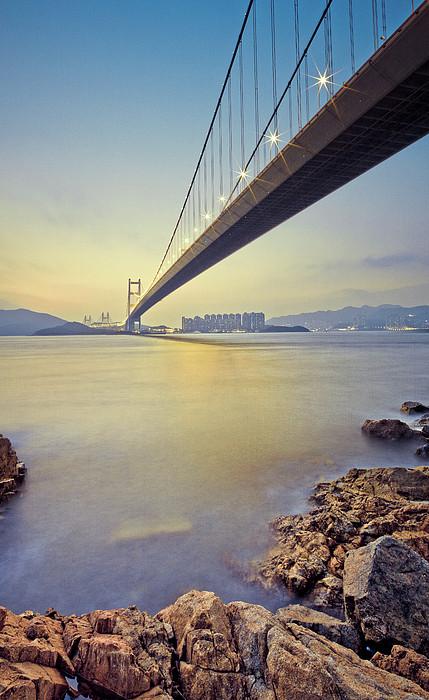 Tsing Ma Bridge Print by Andi Andreas