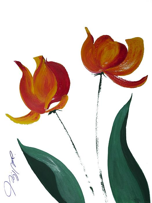 Tulip Two Painting  - Tulip Two Fine Art Print