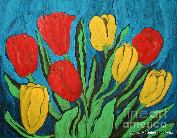 Tulips Print by Anna Folkartanna Maciejewska-Dyba