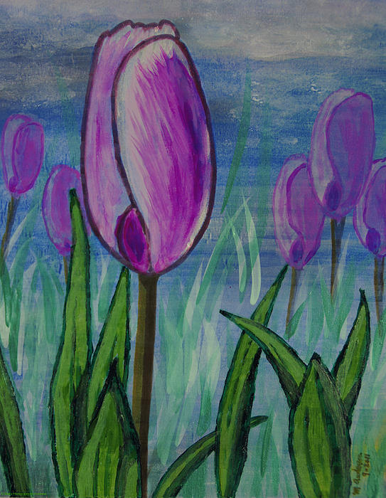 Mick Anderson - Tulips in the Mist