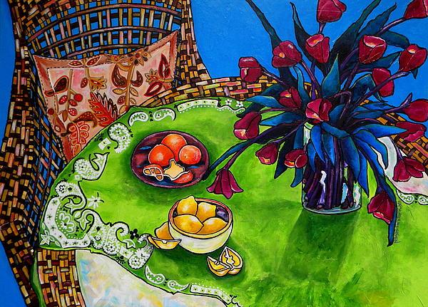 Tulips Sea Side Print by Patti Schermerhorn