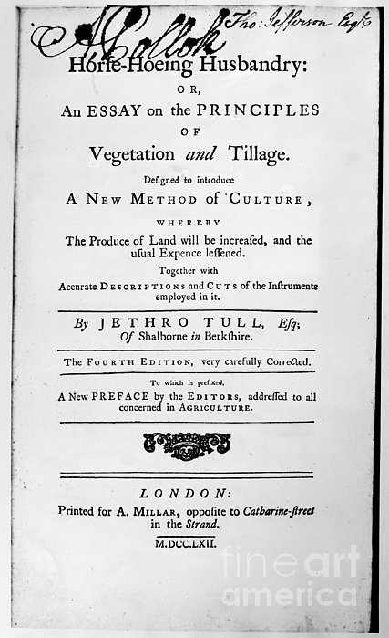 Tull: Title Page, 1762 Print by Granger
