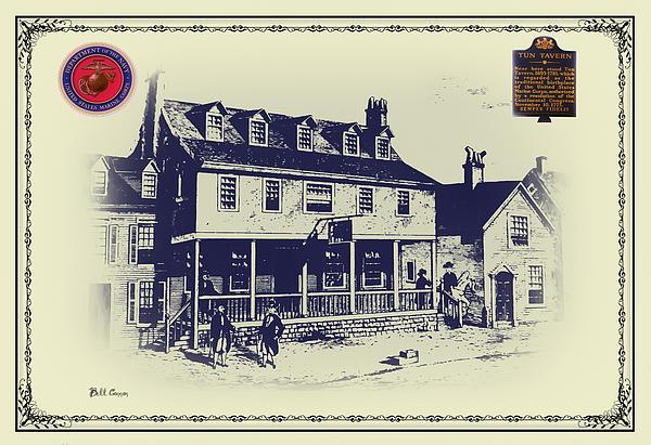 Tun Tavern - Birthplace Of The Marine Corps Print by Bill Cannon