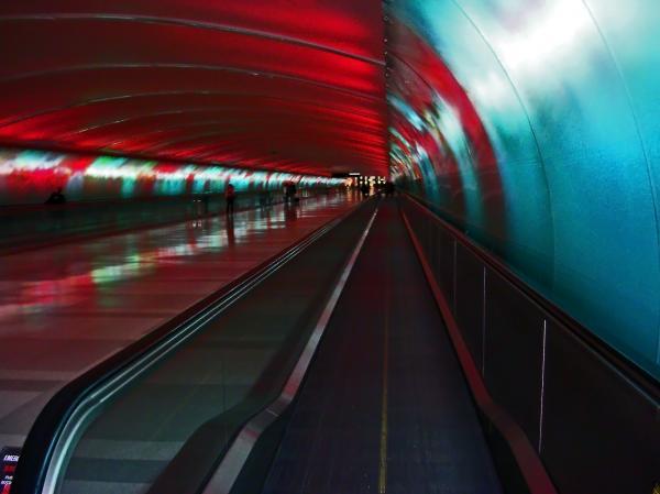 Tunnel Of Light Print by Elizabeth Hoskinson