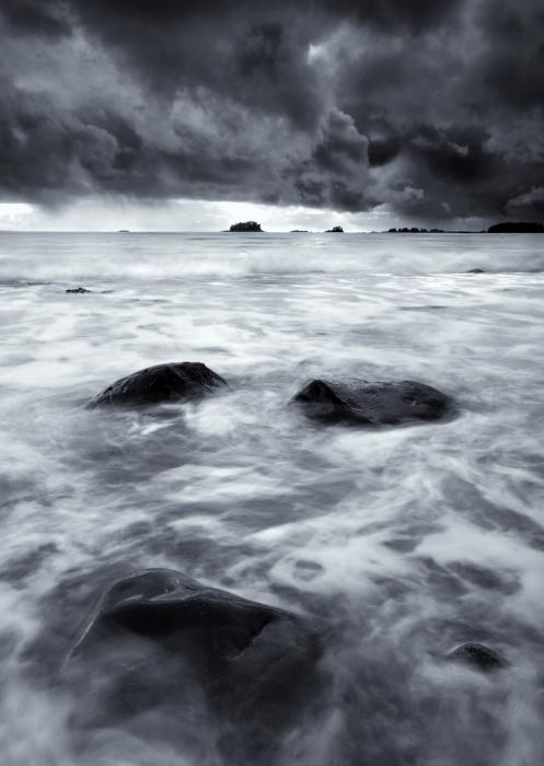 Turbulent Seas Print by Mike  Dawson