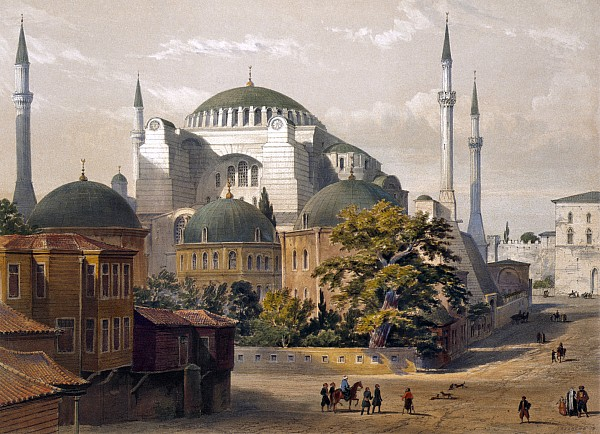 Turkey: Hagia Sophia, 1852 Print by Granger