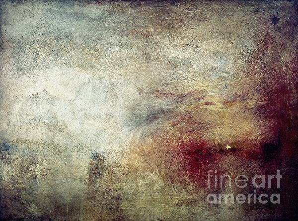 Turner: Sun Setting, C1840 Print by Granger
