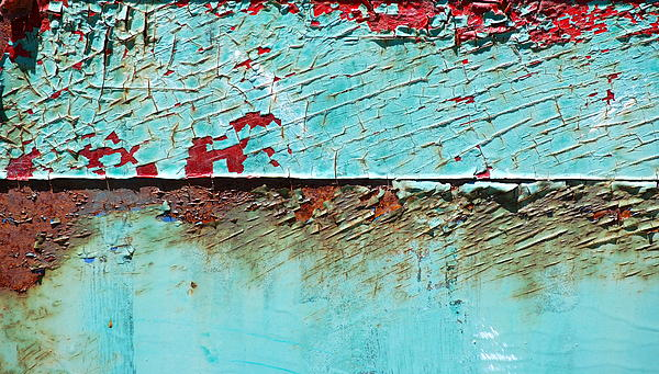 Turquoise Peeling Photograph