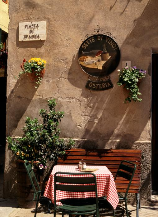 Tuscan Cafe By Michael Hudson