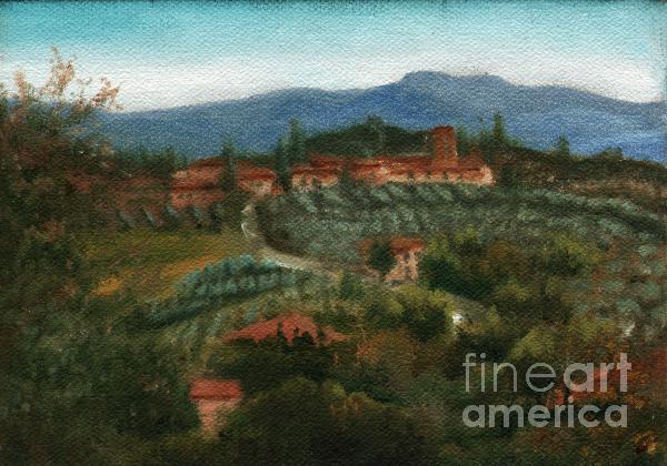 Tuscan Farm Print by Leah Wiedemer