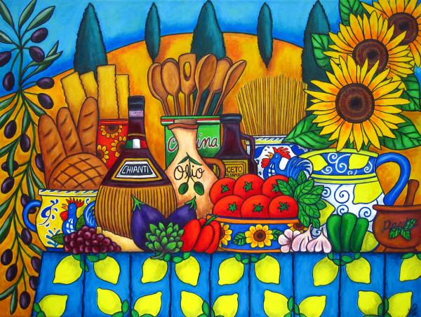 Tuscany Delights Print by Lisa  Lorenz