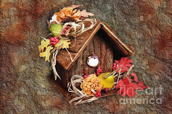 Tweet Little Bird House Print by Andee Design