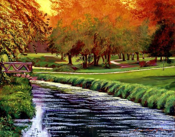 Twilight Golf Print by David Lloyd Glover