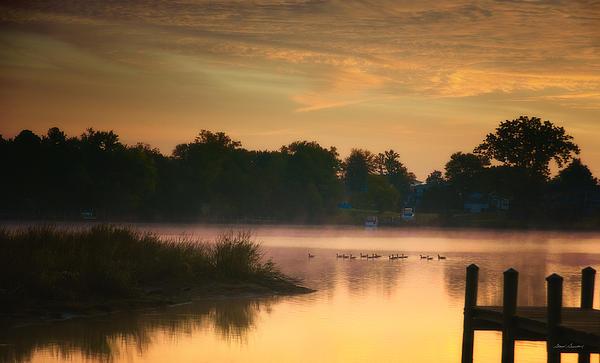 Glenn Gemmell - Twilight on Monroe Bay