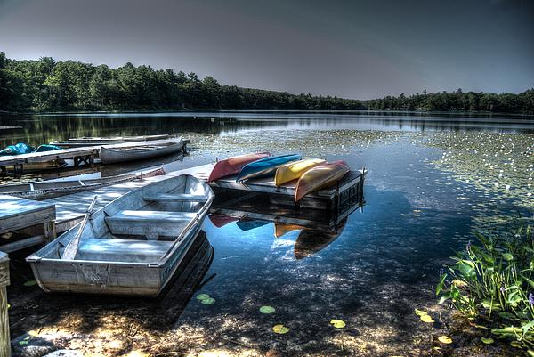 Twin Lakes Pa Print by Guy Harnett