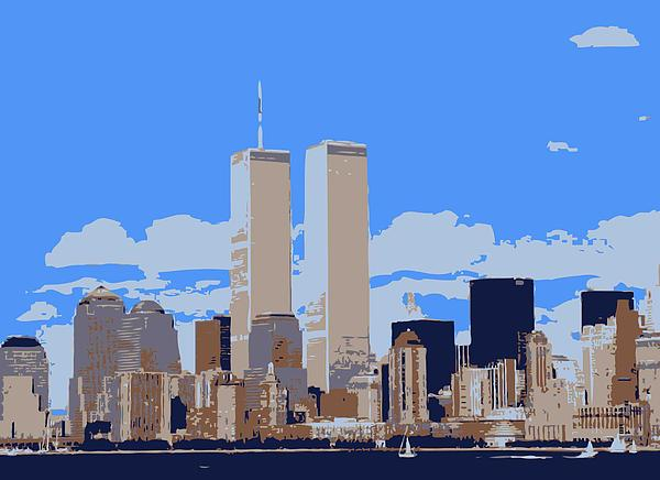 Twin Towers Color 6 Print by Scott Kelley