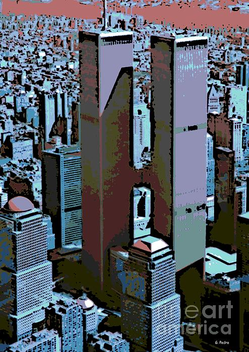 Twin Towers Print by George Pedro