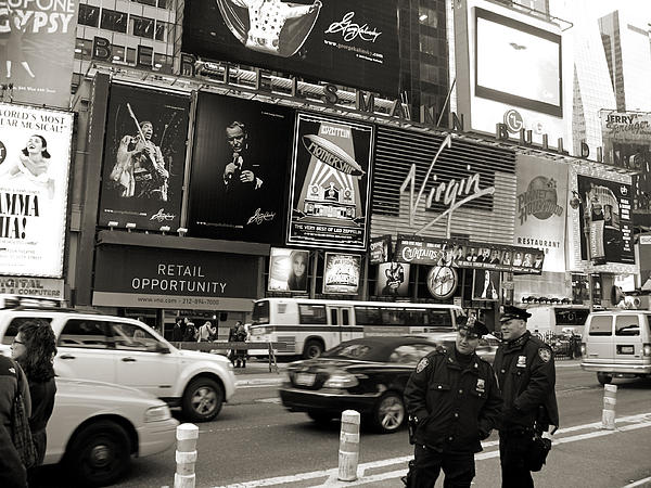 Two Cops On Broadway Print by RicardMN Photography
