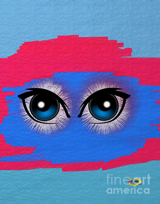 Two Eyes Print by Rod Seeley