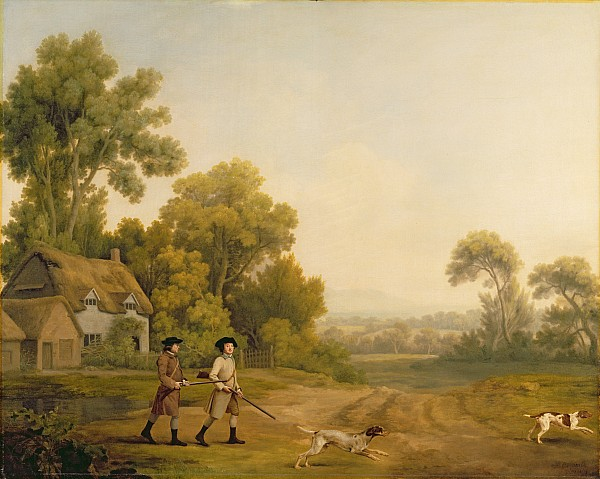 Two Gentlemen Going A Shooting Print by George Stubbs