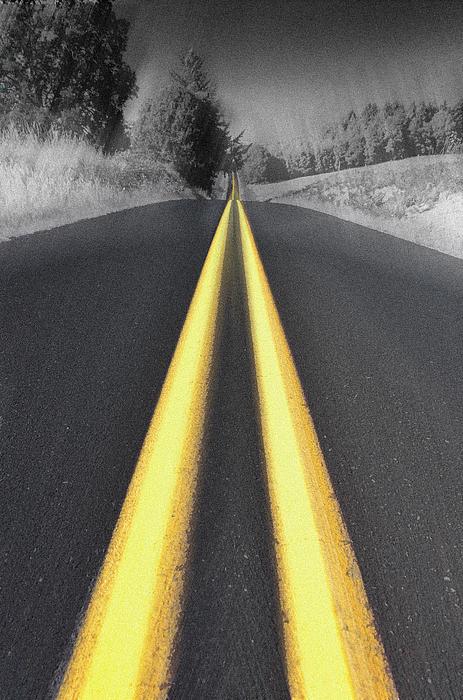 Two-lane Blacktop Print by Kevin Felts