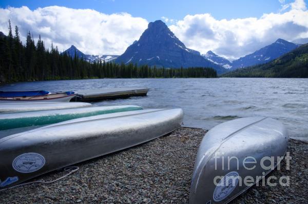 Two Medicine Lake Print by Idaho Scenic Images Linda Lantzy