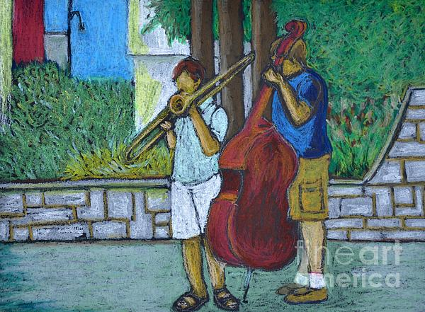 Two Musicians Print by Reb Frost