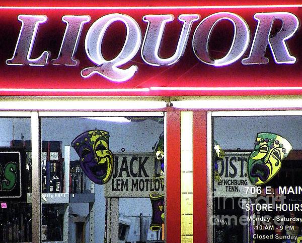Two Sides Of Booze Print by Joe Jake Pratt