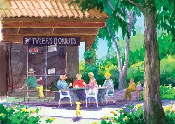 Tylers Donuts Print by Ray Cole