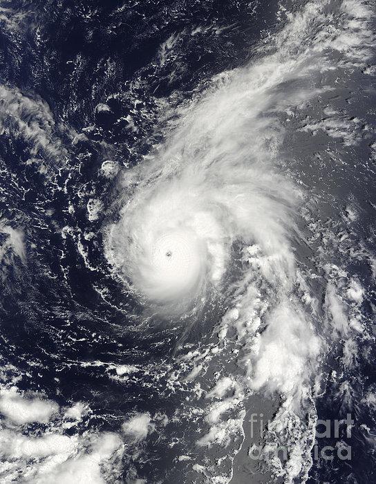 Typhoon Vamco In The Pacific Ocean Print by Stocktrek Images