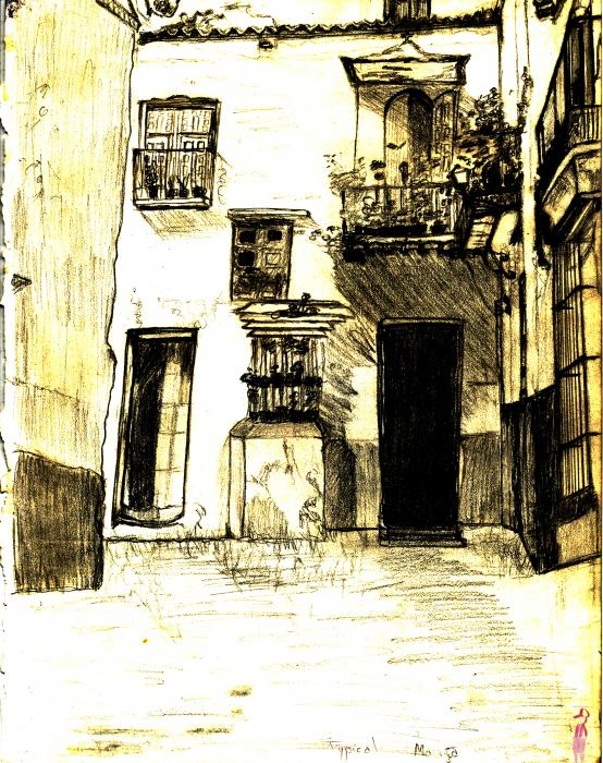 Typical Malaga Painting  - Typical Malaga Fine Art Print