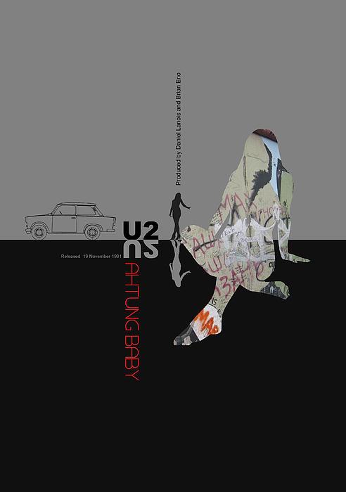 U2 Poster Print by Naxart Studio