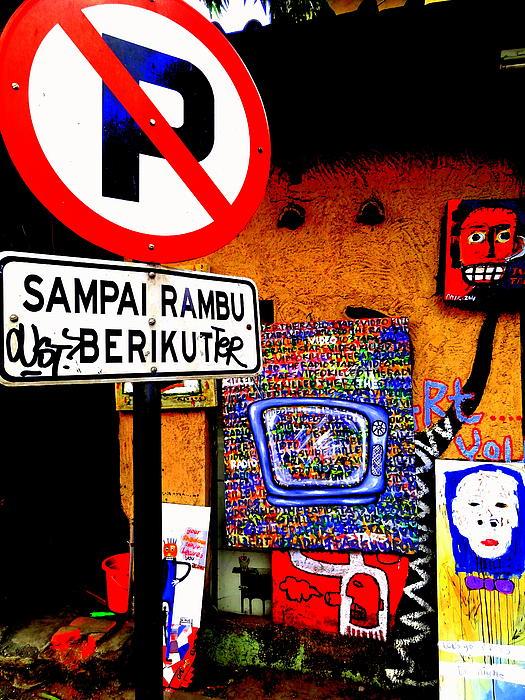 Ubud Art Street  Print by Funkpix Photo Hunter